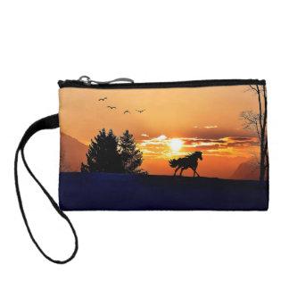 running horse  - sunset horse - horse coin wallet