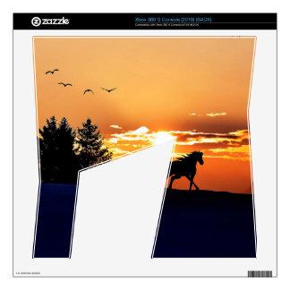 running horse  - sunset horse - horse xbox 360 s console skin