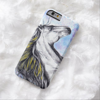 Running horse watercolor ink art iPhone 6 case