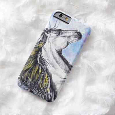 Running horse watercolor ink art iPhone 6 case