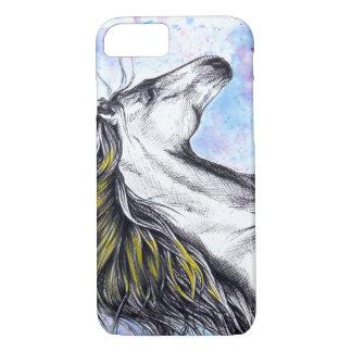 Running horse watercolor ink art iPhone 7 case