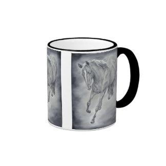 Running Horse Western Mug in Black