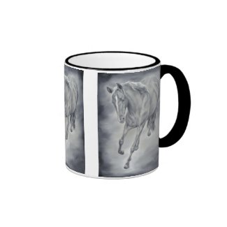 Running Horse Western Mug in Black