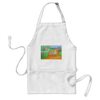 running horses adult apron