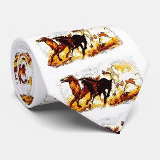 Running Horses Artwork Tie