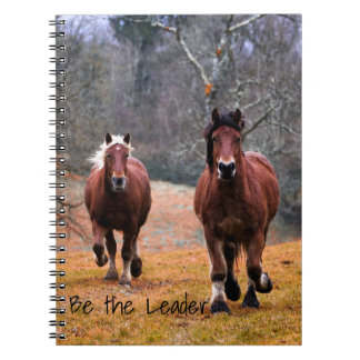 Running Horses Be The Leader Notebook