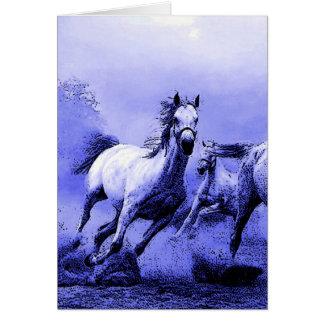 Running Horses & Blue Moonlight Card