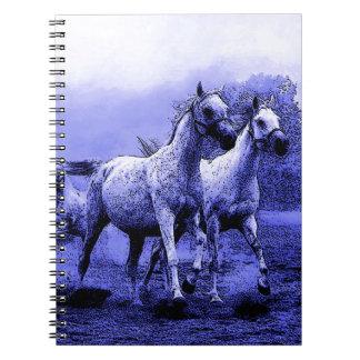 Running Horses & Blue Moonlight Spiral Notebook