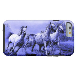 Running Horses & Blue Moonlight Tough iPhone 6 Case
