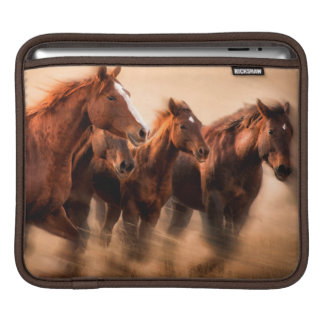 Running horses, blur and flying manes sleeve for iPads