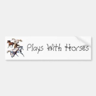 Running Horses Car Bumper Sticker