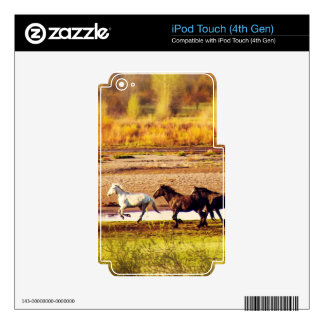 Running Horses Decals For iPod Touch 4G