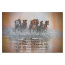 Running Horses Decoupage Tissue Tissue Paper