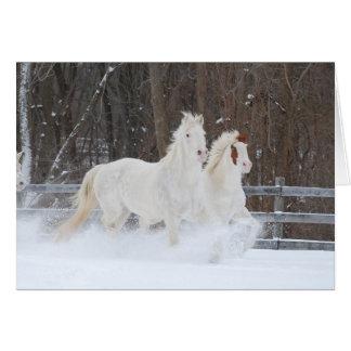 Running Horses Holiday Card