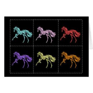 """""""Running Horses"""" ~ Holiday Greeting Card"""