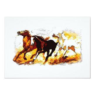 Running Horses Invitation