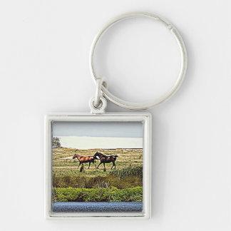 Running Horses Keychain