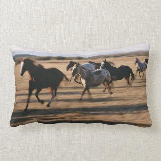 Running Horses Lumbar Pillow