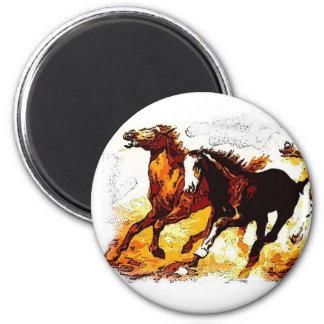 Running Horses Magnet