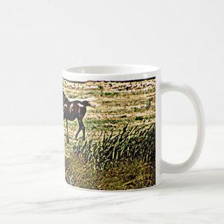 Running Horses Classic White Coffee Mug