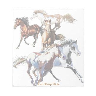 Running Horses Memo Note Pad