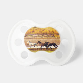 Running Horses Pacifier