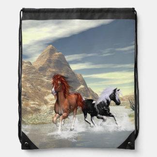 Running horses backpacks