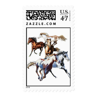 Running Horses Postage
