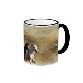 Running Horses Ringer Mug