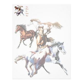 Running Horses, Running Horses Letterhead Template