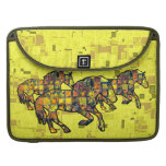 RUNNING HORSES SQUARED MacBook Pro Sleeve