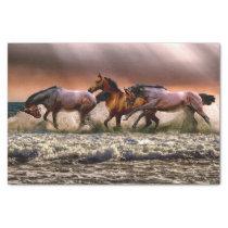 Running horses tissue paper