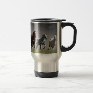 Running Horses Travel/Commuter Mug