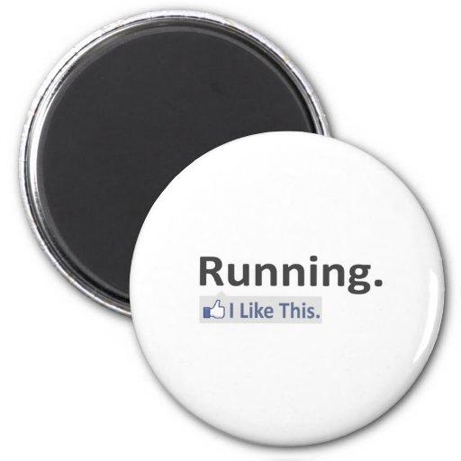 Running...I Like This Refrigerator Magnets