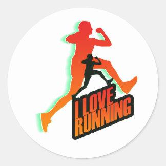 Running iGuide Intervals Round Sticker