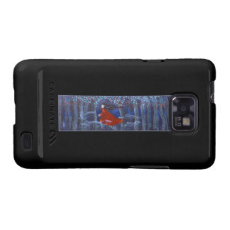 Running in the Woods at Night On Black Samsung Galaxy S Cases