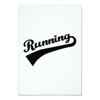 """Running 3.5"""" X 5"""" Invitation Card"""