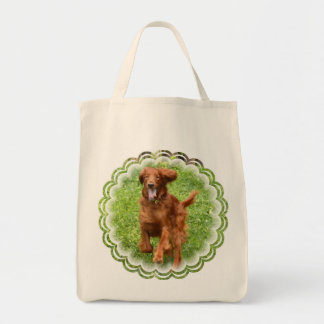 Running Irish Setter Grocery Tote Grocery Tote Bag
