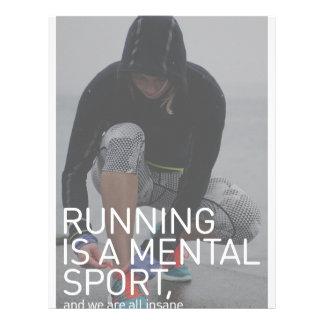 Running Is A Mental Sport Letterhead