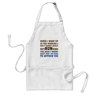 Running is about beating the competition adult apron