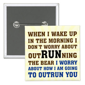 Running is about beating the competition button