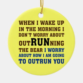 Running is about beating the competition Double-Sided ceramic round christmas ornament