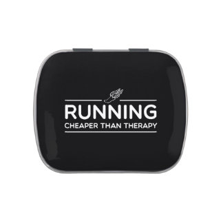 Running is Cheaper than Therapy Jelly Belly Candy Tin