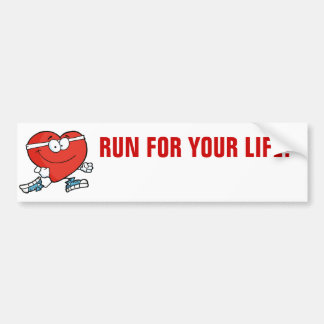 Running is Good Exercise for Your Heart Bumper Sticker