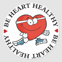 Running is Good Exercise for Your Heart Classic Round Sticker