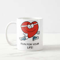 Running is Good Exercise for Your Heart Coffee Mug