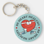 Running is Good Exercise for Your Heart Key Chains