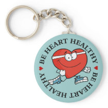Running is Good Exercise for Your Heart Keychain