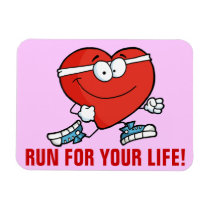 Running is Good Exercise for Your Heart Magnet