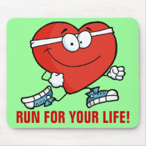 Running is Good Exercise for Your Heart Mouse Pad